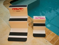 Paws Aboard big and small swimming pool ramps