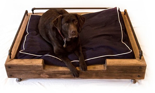 modern wooden dog crate