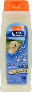 Hartz UltraGuard Rid Flea Tick Shampoo for Dogs with Oatmeal